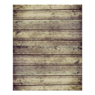 Dark Antiqued Planked Wood Scrapbook Paper 11.5 Cm X 14 Cm Flyer