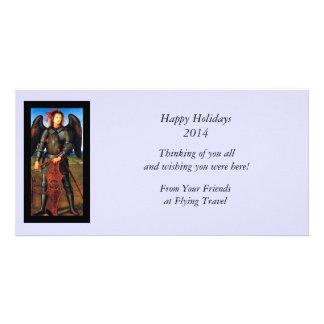 Dark Archangel Michael Personalised Photo Card