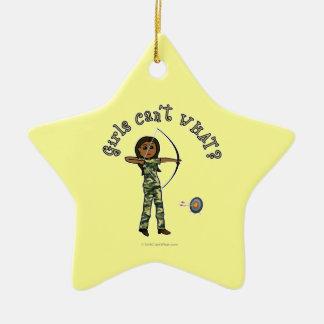 Dark Archery in Camouflage Christmas Ornament