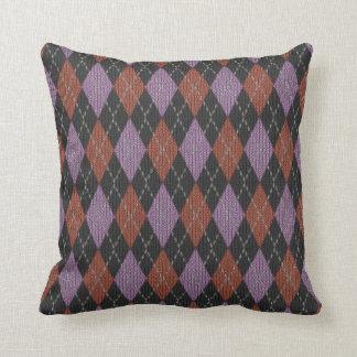 Dark Argyle Pillow