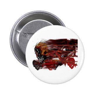 dark art skull pinback buttons