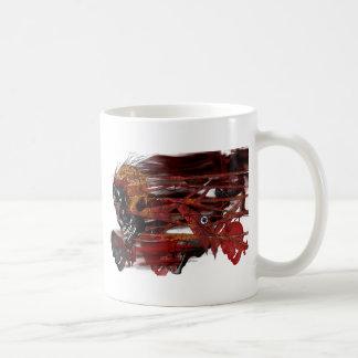 dark art skull basic white mug
