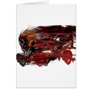 dark art skull greeting cards