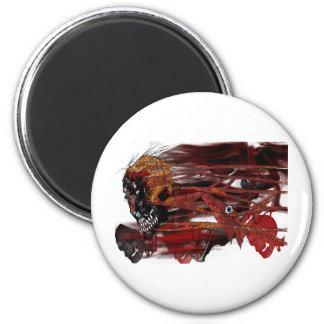 dark art skull fridge magnet