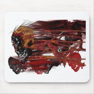 dark art skull mouse pad