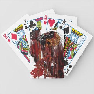 dark art skull poker cards