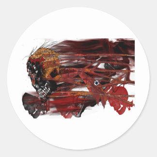dark art skull sticker