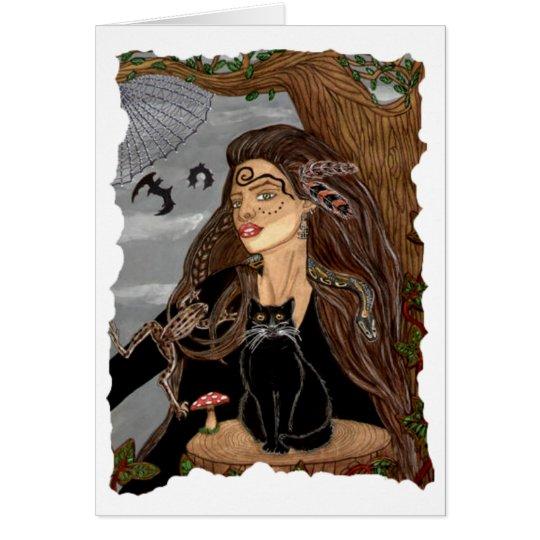Dark Arts Sorceress Blank Card
