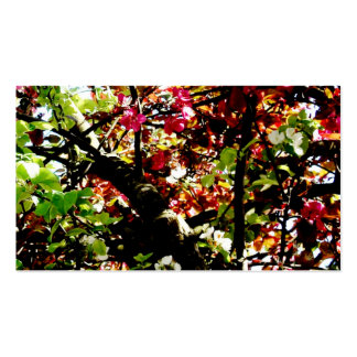 Dark Autumn Leaves Business Card