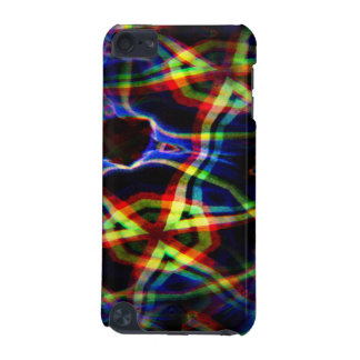 Dark background electric yellow and orange pattern iPod touch 5G covers