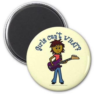 Dark Bass Guitar Girl Refrigerator Magnets