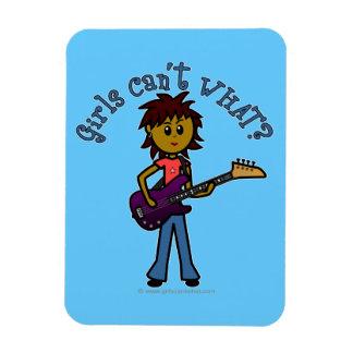 Dark Bass Guitar Girl Vinyl Magnet