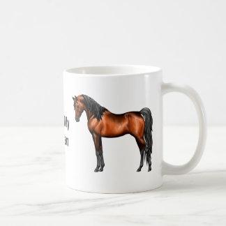 Dark Bay Egyptian Arabian Horse Coffee Mug