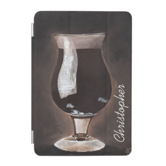 Dark Beer in Tulip Glass Porter Stout Painting Art iPad Mini Cover