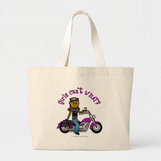 Dark Biker Girl Canvas Bags