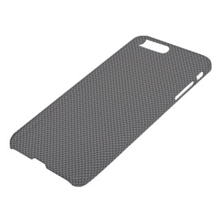 Dark Black and Charcoal Grey Carbon Fibre Polymer iPhone 8 Plus/7 Plus Case