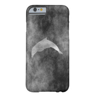 Dark Black Dolphin Barely There iPhone 6 Case