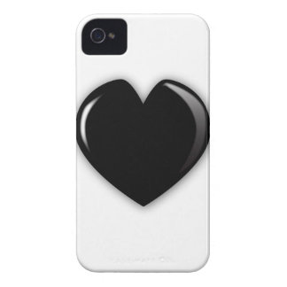 Dark Black Heart iPhone 4 Case-Mate Cases