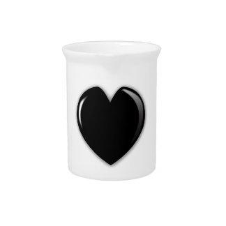 Dark Black Heart Pitcher