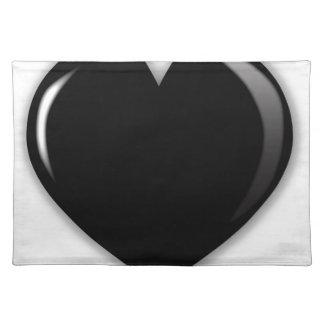 Dark Black Heart Placemat