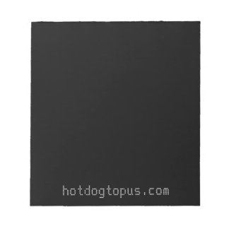 Dark Black Notepad for White Gel Pens and Markers