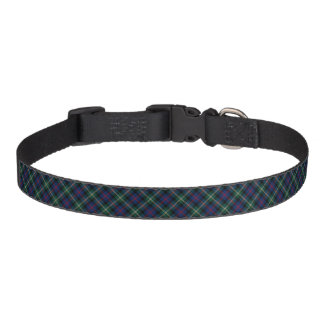 Dark Blue and Forest Green Malcolm Clan Tartan Pet Collar