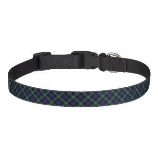 Dark Blue and Forest Green Malcolm Clan Tartan Pet Collar