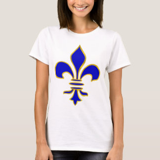 Dark blue  and gold fleur de lis t-shirt