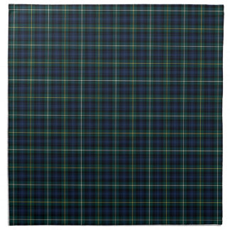 Dark Blue and Green Campbell Clan Tartan Napkin