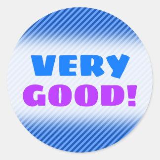 Dark Blue and Lighter Blue Stripes Pattern Sticker