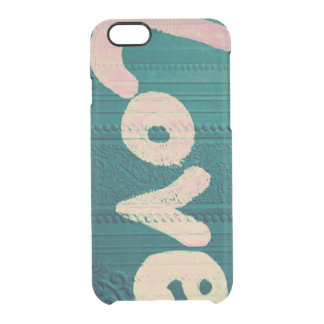 Dark blue and pink love on wallpaper iPhone case