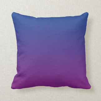 """""""Dark Blue And Purple Ombre"""" Throw Pillow"""