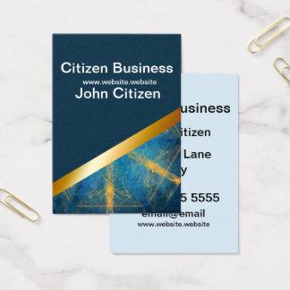 Dark blue and Tribal mandala 10 business card