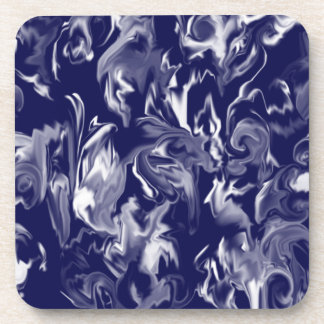 Dark Blue and White design mixed color coaster