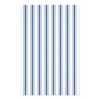 Dark Blue and White Mattress Ticking Narrow Stripe Flyer