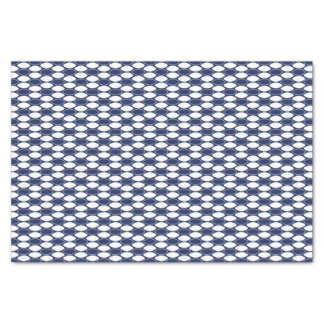 Dark Blue and White Oval Pattern Tissue Paper