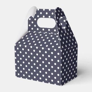 Dark Blue And White Polka Dot Pattern Favour Box