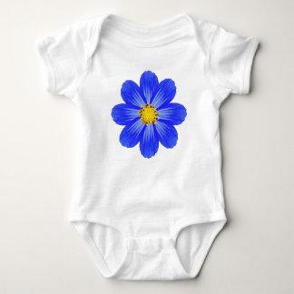 Dark Blue Baby Flower by Blaise Gauba Baby Bodysuit