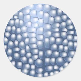 Dark blue background round sticker