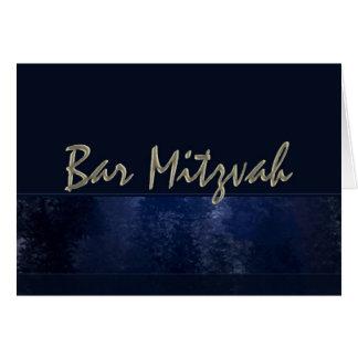 Dark Blue Bar Mitzvah Card