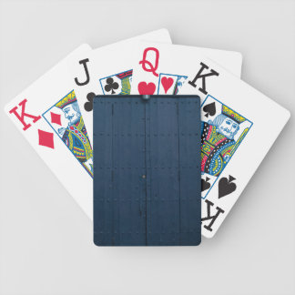 Dark Blue Boathouse Door Costa Brava Spain Poker Deck