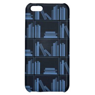 Dark Blue Books on Shelf. Case For iPhone 5C
