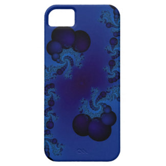 dark blue bubble fractal iphone case
