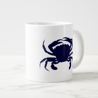 Dark Blue Crab 2 Large Coffee Mug