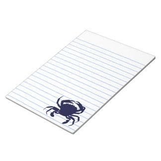 Dark Blue Crab 2 Notepad
