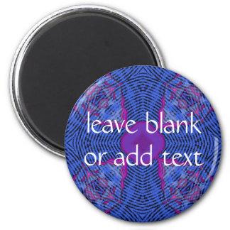 dark blue cross 6 cm round magnet