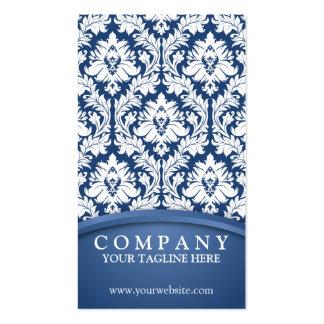 Dark Blue Damask Pack Of Standard Business Cards