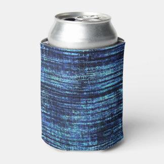 Dark Blue Denim Pattern Can Cooler