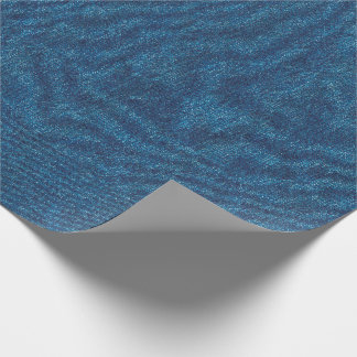 Dark Blue Denim Texture Wrapping Paper