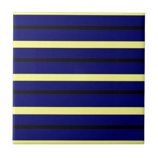 Dark Blue Derby Stripe Ceramic Tile